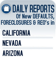County Records Research, Foreclosure research in California Nevada and Arizona. Analyzes and reports on recent foreclosure data local areas.